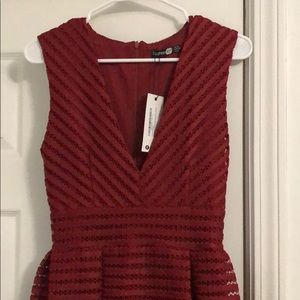 Boohoo Dresses - Plunge Midi Skater Dress